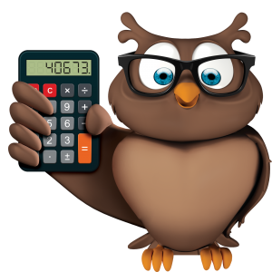 Coruja com Calculadora