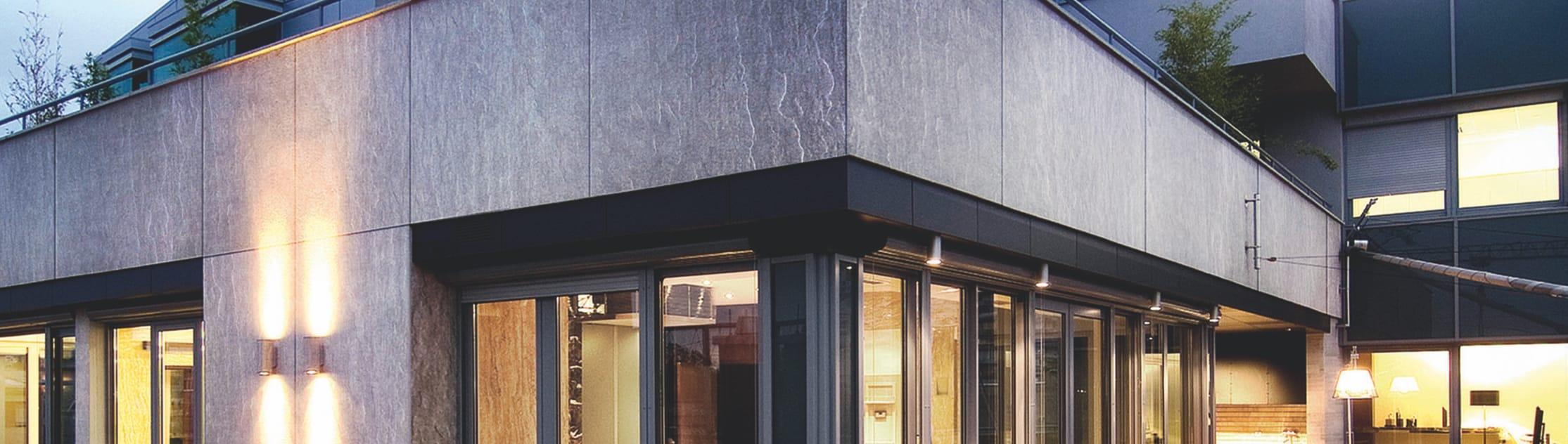 Imagem de uma construção com Eternit