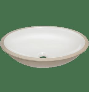 Cuba Oval Branca de Cerâmica