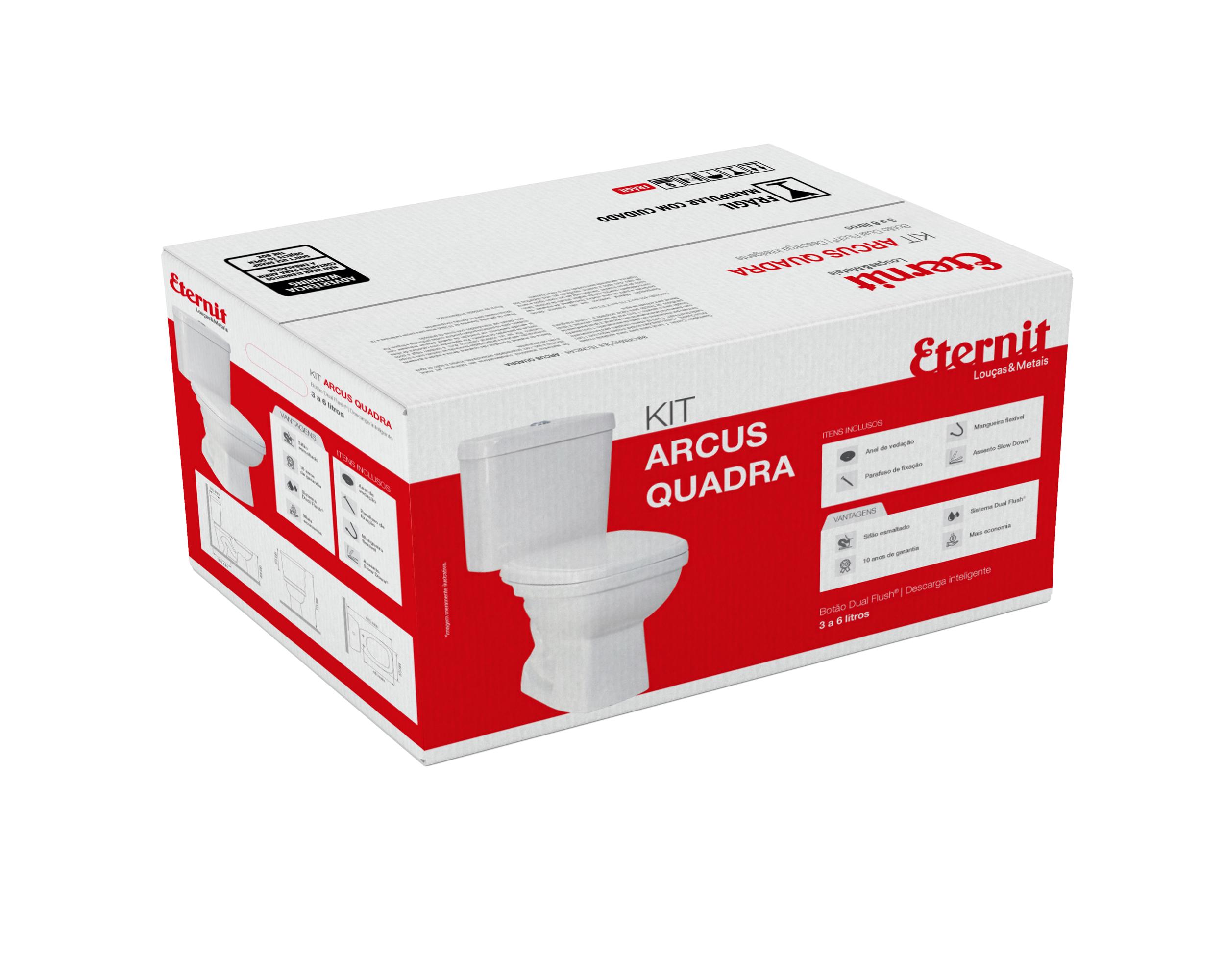 Kit Bacia Arcus Quadra – Assento Slow Down®